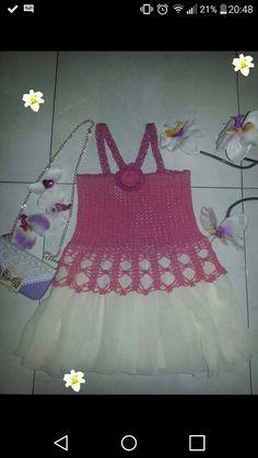 Dress for girl.crochet snd sew