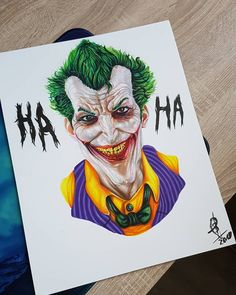 Joker from DC Comics, perfect drawing work by Joker And Harley, Tag Art, Bob Marley, Wood Carving, Dc Comics, Art Drawings, Tattoos, Life, Fictional Characters