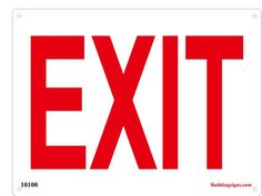 White Employee Exit Sign Large Business Worker Signs Aluminum Metal 4 Pack 12x18