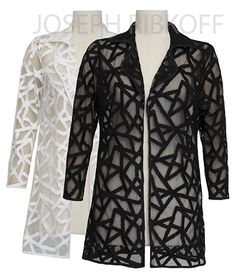 Cover Up | Available in White and Black | Joseph Ribkoff Collection.
