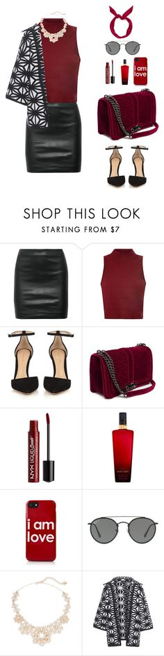 """""""Valentine's Dinner"""" by mutzrahc ❤ liked on Polyvore featuring The Row, Glamorous, Gianvito Rossi, NYX, Victoria's Secret, Ray-Ban, Kate Spade, Dsquared2 and yunotme"""