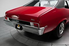 1969 Garnet Red Chevrolet Nova California SS 350 4 Speed V8 | Gear X Head