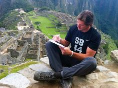 Scott Fujita signs one-day contract with the Saints----as he sits atop Machu Picchu----so he can retire as a Saint!! He was there with his friend Steve Gleason.  I LOVE this guy!! (AND his tee shirt--'SB44', SuperBowl 44 for those outside the WhoDat Nation.)