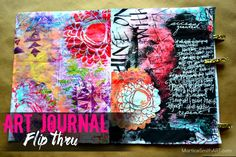 LOVE this--->Art Journal Flip Thru #1 MarticeSmithART used Deconstructed Floral stencils by Traci Bautista for StecilGirl