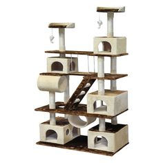 Go Pet Club Huge 87.5 in. Cat Tree Condo House Furniture | from hayneedle.com