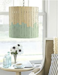 Paint-Stick Lampshade