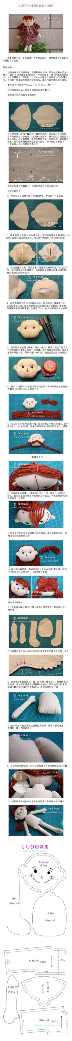 I don't understand what's written, but the pictures give clear instructions - rag doll head