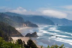 Beautiful coastline from Cape Falcon Overlook.... Oregon's coast rivals the most pristine Californian beaches in terms of beauty & activities.... Check out when to go, what to do & where to camp or RV!