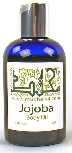 Jojoba Body Oil            Jojoba Body Oil 4 oz by Mukhallat                 This velvety rich body oil features a moisturizing jojoba oil which helps condition the skin. Apply after bath or shower for soft and beautifully scented skin.