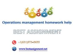Operations management homework help   BizPR co uk   UK Free Press
