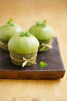 Green Tea Cupcakes - great idea for a tea party bridal shower!!