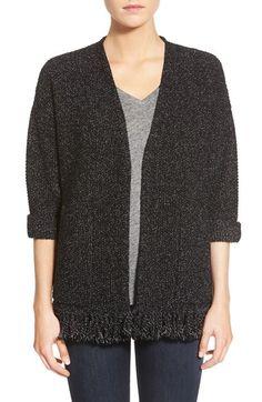 Women's Madewell 'Memento' Fringe Cardigan Sweater, Size Small