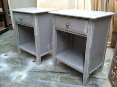 New Distressed Paris Grey Chalk Paint by JustinAmesDesigns on Etsy