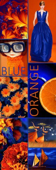 navy | orange ღ Lu's Inspiration