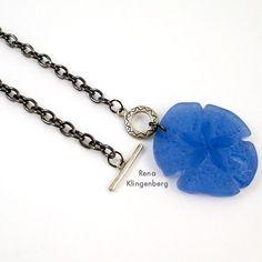Toggle Pendant Necklace - Tutorial by Rena Klingenberg - finished necklace ends