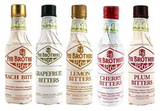 "Great to add to cocktails!  Fee Brothers ""The Trees"" Cocktail Bitters - 5 Bar Drink Mixers Cherry Lemon Plum"