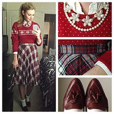 Christmas sock hop Karla Reed's Instagram