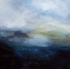 ABSTRACT ART - Ken Browne : New Abstract Paintings Collection : ODYSSEY : 2010 # 1j.  Ken Brown is an Irish artist. These landscapes bring me joy.