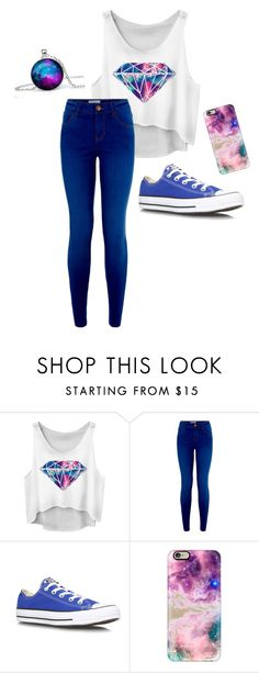 """Galaxy"" by sara-a-0114 ❤ liked on Polyvore featuring Converse and Casetify"