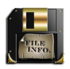 """Steampunk 3.5"""" Floppy Disc Icon"""
