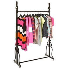 Decorative Freestanding Black Metal Single Rod Garment Storage Rack / Retail Clothing Display Stand MyGift http://www.amazon.com/dp/B010GVVGX2/ref=cm_sw_r_pi_dp_YpRlwb04ZHM6T