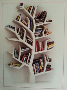 66 Super ideas for book shelf tree bookshelf ideas Tree Bookshelf, Tree Shelf, Wall Bookshelves, Bookshelf Design, Wall Shelves Design, Bookshelf Ideas, Tree Book Shelves, Bookcases, Etagere Design