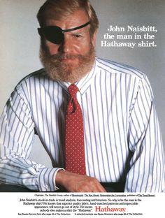 John Naisbitt for Hathaway shirts, 1986 ad Arrow Shirts, My Childhood, Advertising, Menswear, Guys, Men Wear, Boyfriends, Men Clothes, Boys