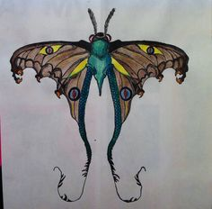 Moth with dragon elements