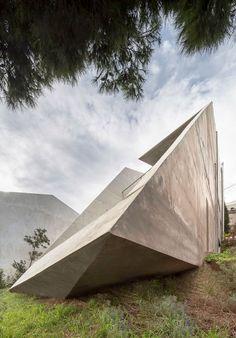 Tense Architecture Network, Filippo Poli · Residence in Kallitechnoupolis Concrete Architecture, Architecture Photo, Contemporary Architecture, Arch House, Outdoor Gear, Tent, Greece, Interior Design, Architects