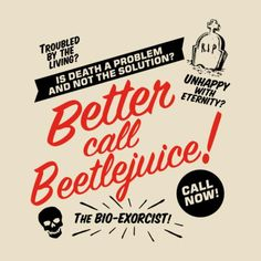 365 Days of Halloween: Photo Beetlejuice Cartoon, Beetlejuice Halloween, Beetlejuice Quotes, Sweeney Todd, Tim Burton Films, Holidays Halloween, Halloween Trees, Looks Cool, Nightmare Before Christmas