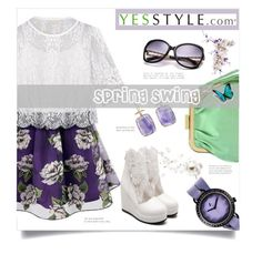 """""""Spring Swing"""" by linkfari ❤ liked on Polyvore featuring ANS, t. watch, KOON and JY Shoes"""