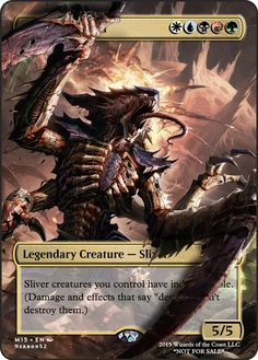 Sliver Hive Lord If you have any suggestions for a card you would like to see let me know. Mtg Decks, Mtg Altered Art, Mtg Art, Legendary Creature, Magic The Gathering Cards, Alternative Art, Magic Cards, Monster Design, Warhammer 40000
