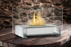 Eco-Feu Toulouse - Tabletop Ethanol Fireplace - Stainless Steel (TT-00142-SS)