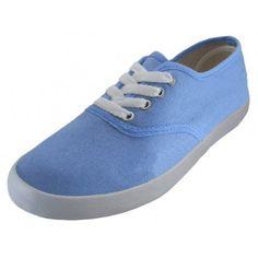 Wholesale Women's Canvas Shoes - S324L - Sky Blue - 24 Pairs Per Case - Free Shipping