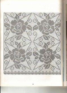 ФИЛЕЙНОЕ ВЯЗАНИЕ. ОЧЕНЬ МНОГО!!!: lizakaddi Crochet Table Topper, Crochet Tablecloth Pattern, Crochet Doily Diagram, Filet Crochet Charts, Holiday Crochet Patterns, Crochet Square Patterns, Crochet Squares, Thread Crochet, Crochet Stitches