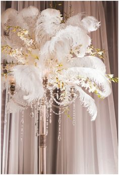 1920s decoration - ostrich feathers Feathers and dangles; what could be more 20s?!?!