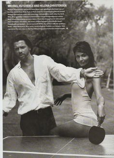 Amazing! Helena Christensen and INXS frontman Michael Hutchence. #legends