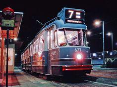 Amsterdamse bolkop tram op het Amstelstation 1969