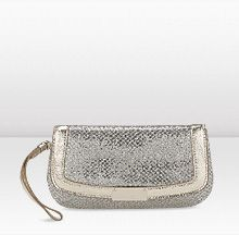 Jimmy Choo - Browse the complete bridal collection Glitter Fabric, Capsule Wardrobe, Jimmy Choo, Clutches, Champagne, Pouch, Bling, Pretty, Stuff To Buy