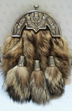 This is Very High Quality Beautiful Adult Full Dress Sporran Celtic Design. Scottish Kilts, Scottish Highlands, Celtic Designs, Fox Fur, Traditional Outfits, Chrome, Fashion Dresses, Long Hair Styles, The Originals