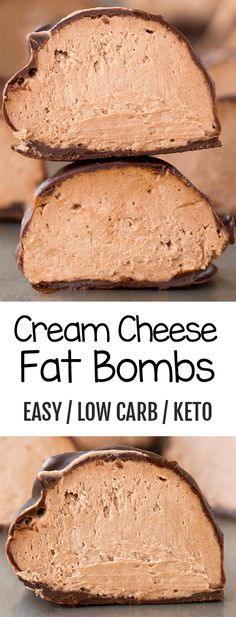 These low carb and keto health friendly chocolate or vanilla cream cheese bombs are easy to make and impossible to resist for dessert! # Desserts fruit Cream Cheese Bombs - The BEST Low Carb Keto Treats Low Carb Desserts, Healthy Dessert Recipes, Health Desserts, Low Carb Recipes, Smoothie Recipes, Breakfast Recipes, Diet Recipes, Keto Snacks, Breakfast Smoothies