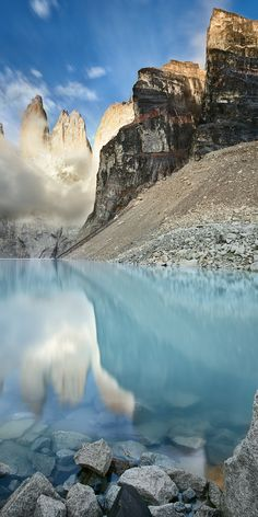 The Torres del Paine, Torres del Paine National Park, Patagonia, Chile. Majestic Patagonia...