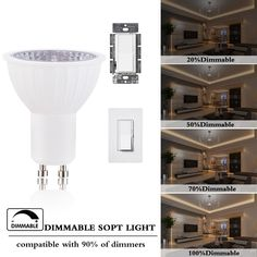 Pack of LED Track Light Bulbs Dimmable Equivalent Warm White Flood Base Light Bulb Recessed Lighting 60 Degree Track Lighting * You could discover more details by going to the picture web link. (This is an affiliate link).