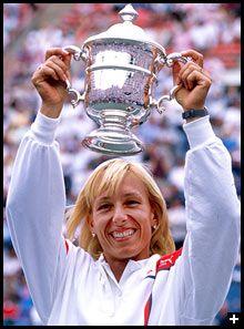 Martina Navratilova - best tennis player ever.