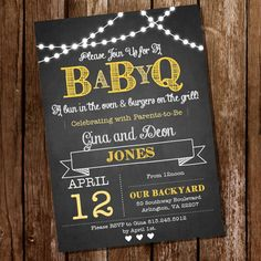 Chalkboard BaByQ Baby Shower for a Girl or Boy by SunshineParties, $5.00