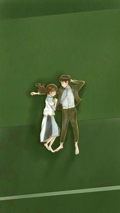 Master's sun Couple Illustration, Character Illustration, Digital Illustration, Korean Image, Korean Art, Cute Couple Cartoon, Cute Couple Art, Kpop Drawings, Couple Drawings