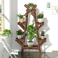 Metal Plant Stand, Wooden Plant Stands, Diy Plant Stand, House Plants Decor, Plant Decor, Balcony Flowers, Decoration Plante, Indoor Plant Pots, Indoor Plant Stands