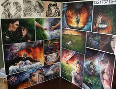 Most popular tags for this image include: art, tasha meys, atonement, colour… Kunst Portfolio, A Level Art, Level 3, Dark Landscape, New Zealand Art, Ap Art, Gcse Art, First Art, Art Sketchbook