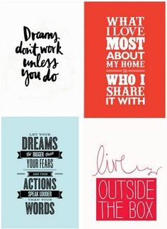 All sorts of quotation art--great art inspiration from Etsy.