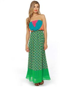 Geo Look Nice Print Maxi Dress #lovelulus
